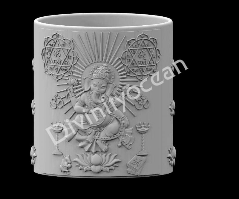 Ganesha Standing CYL Pen Stand