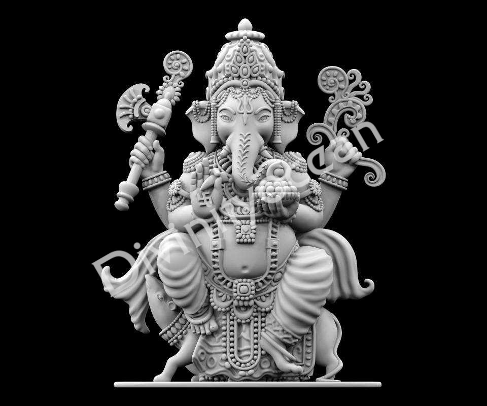 Ganesha on Mouse Idol