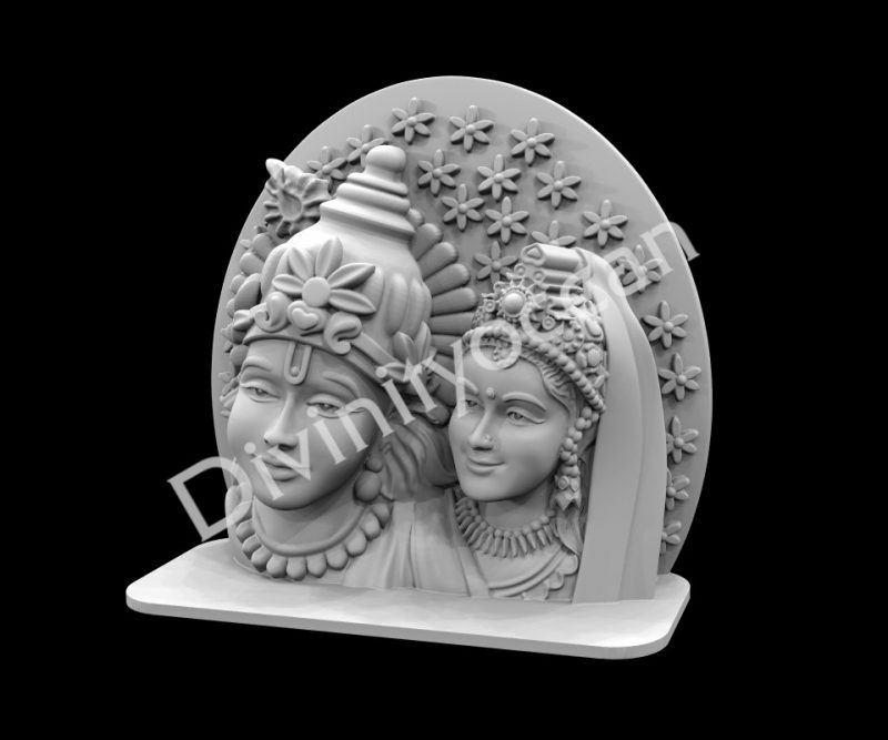 Krishna Radha Face Table Decor