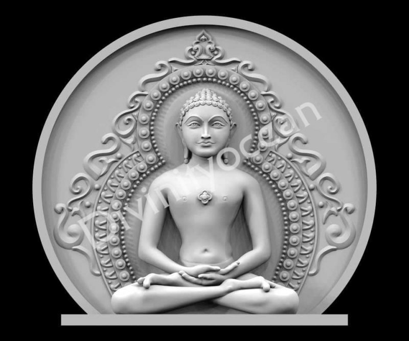 Lord Mahavir Plate Idol