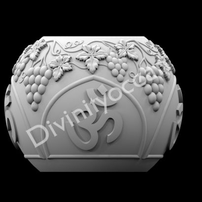 Om and Floral Spherical Pen Stand