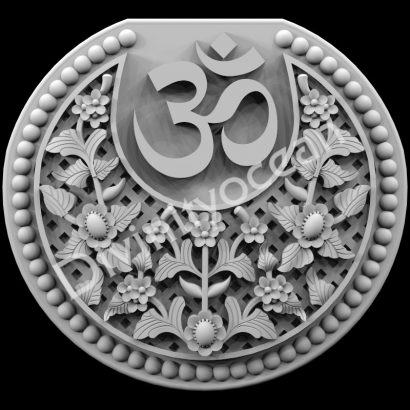 Om with Flowers Theme Wall Hanging