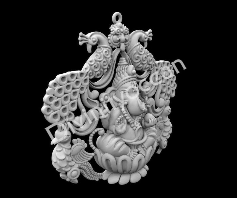 Peacock Ganesha Theme Wall Hanging